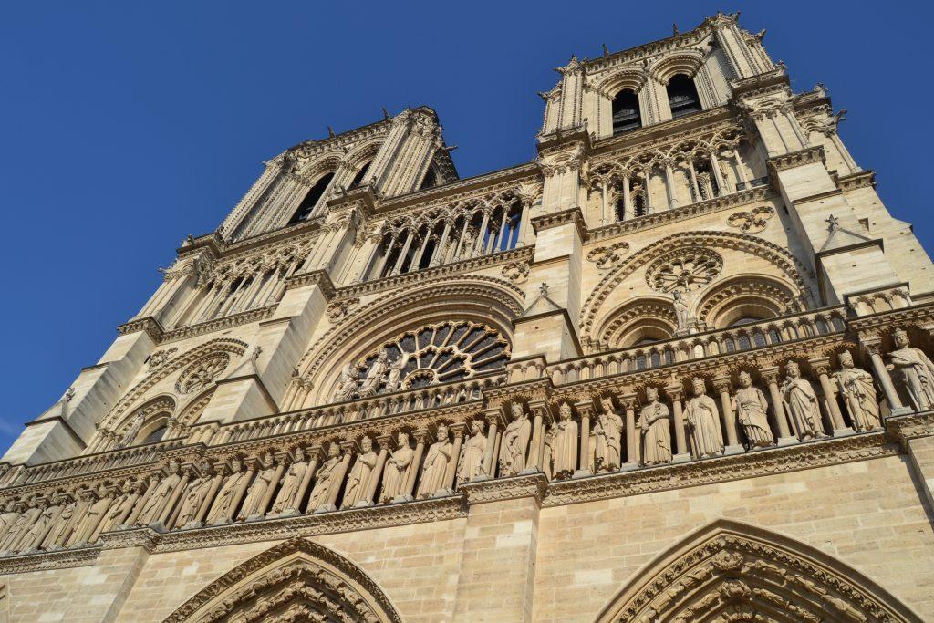 Photo de l'entrée de la cathédrale de Notre-Dame de Paris
