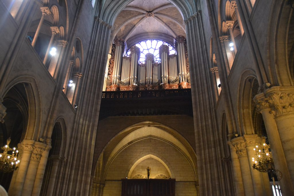 Photo de l'orgue de Notre-Dame de Paris