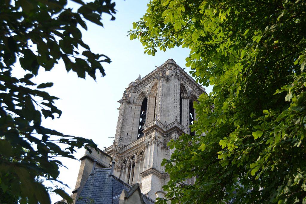 Photo de l'extérieur de la cathédrale, vu depuis le jardin attenant
