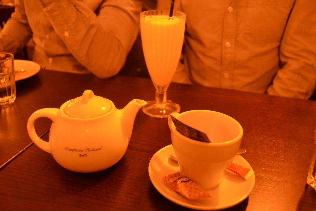 Photo de mon thé pour bien finir le repas